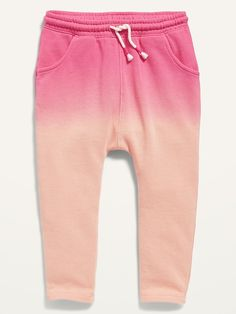 Saw this on Old Navy: Girls Joggers, Girls Pants, Jogger Sweatpants, Baby Girl Pants, Pink Dip Dye, Old Navy Toddler Girl, Shop Old Navy, Little Girl Outfits, Pink Girl