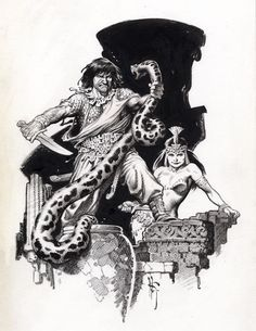 Conan Book Plate 2 by Mark Schultz (SOLD), in SimonReed's ART SOLD by OTHER ARTISTS (SORRY YOU MISSED IT!) Comic Art Gallery Room