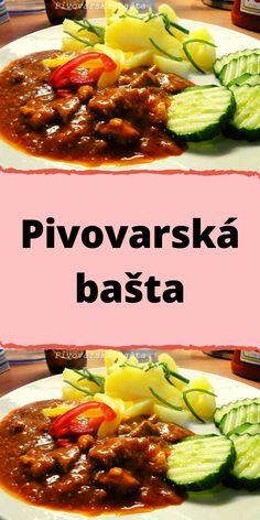 Pivovarská bašta Czech Recipes, Ethnic Recipes, Bastilla, Kung Pao Chicken, Chili, Pork, Food And Drink, Beef
