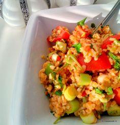 Bulgur salad with Lebanese 7-spice powder