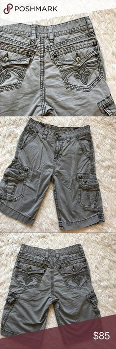 """• Rock Revival • Classic Gray Shorts Classic cool color! Open to offers. 11.5"""" inseam Rock Revival Shorts"""