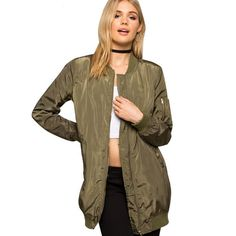 f4aa68628f3 Army Chic Bomber. Ivyary · Jackets and Blazers