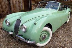 Historics at Brooklands - Specialist Classic and Sports Car Auctioneers - 1954 Jaguar Drophead Coupe Lamborghini, Ferrari, Bugatti, Jaguar Xk120, Jaguar Type E, Jaguar Cars, Vintage Cars, Antique Cars, Up Auto