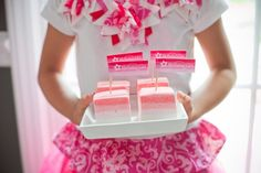 ombre marshmallow American girl doll party desserts