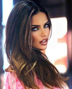 Stunning Eyes, Adriana Lima, Long Hair Styles, Beauty, Instagram, Long Hairstyle, Long Haircuts, Long Hair Cuts, Beauty Illustration