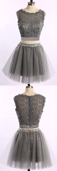 Princess Prom Dresses, Lace Formal Dresses, Two Piece Evening Dresses, Tulle Homecoming Dresses, Short Graduation Dresses