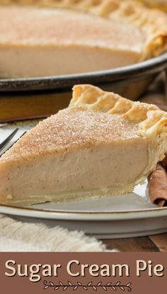 If you're from Indiana, then you might be familiar with a version of a sugar cream pie, and you already know how good it is! Well, our Sugar Cream Pie recipe is super simple and full of those classic cinnamon and nutmeg flavors that made this pie a s Sugar Cream Pie Recipe, Cream Pie Recipes, Easy Pie Recipes, Sugar Pie, Steak Recipes, Shrimp Recipes, Pie Dessert, Dessert Recipes, Boston Cream Pie
