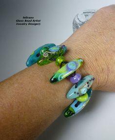 Handmade Lampwork Beads & Glass Jewelry, Muranoglasschmuck, handgefertigte Glasperlen, Schmuck aus Glas Sticks
