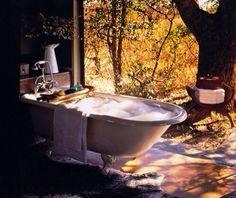 Old fashioned Bathtub outside