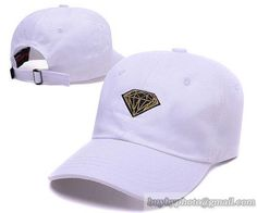 A1507 Diamond Caps Golf Baseball Caps Hiphop Hats White only US$6.00 - follow me to pick up couopons.