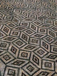 Mosaic Floor in Roman Ruins, Conimbriga, Portugal Photographic  #NaturalPark #Marvao #Portalegre #Alentejo #Portugal