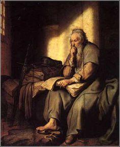 St. Paul in Prison, Rembrandt ca. 1627. http://www.pinterest.com/volfi/rembrandt-van-rijn/