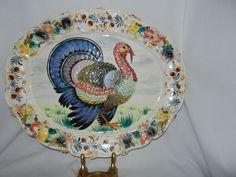 Vintage Turkey Platter - F&R Italy: Removed