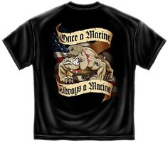Once a Marine, Always a Marine T-shirt |  US Marines Tee Shirt - Short Sleeve