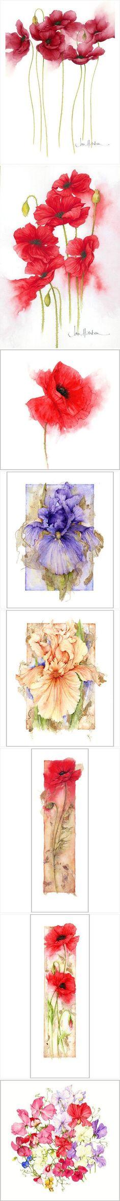 ideas flower art work watercolour for 2019 Painting & Drawing, Silk Painting, Watercolor Cards, Watercolor Flowers, Drawing Flowers, Illustration Blume, Art Tutorials, Flower Art, Art Drawings