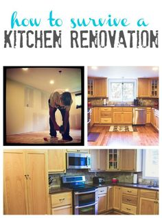 How To Survive A Kitchen Renovation - Tips, ideas and advice for surviving a kitchen renovation!