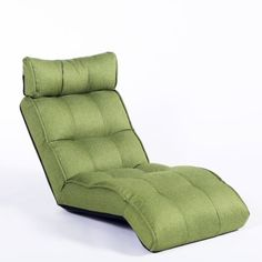 Cozy-Kino-Floor-Chair-Lounger-Sofa-Bed-5-position-Seat-Recliner-Parrot-Green
