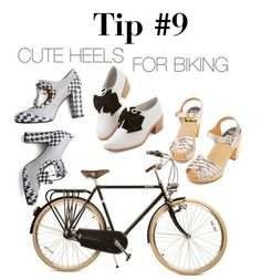 These mid-height heels are totally bike-able. Check out the rest of my cycle chic tips on the @ModCloth blog!