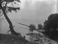 View of Port Ryerse piers and harbor, circa 1925.