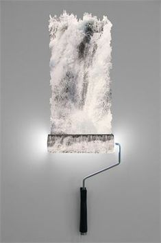 Paint roller wall lamp, waterfall effect : Paint rollers turned into lights (No Tutorial but several designs)
