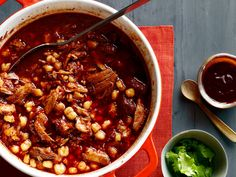 Posole Rojo Recipe : Food Network Kitchen : Food Network Suggested for camping on mbuzz Put the hominy in at the start. Yum.