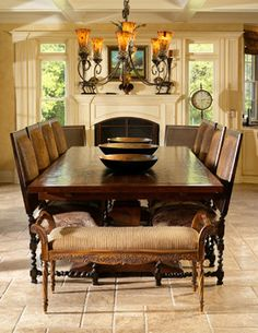 Dining room ideas on pinterest old world dining room for Old world dining room ideas