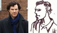 Benedict Cumberbatch Gives His Cumberbitches The Ultimate Fan Art: His Own Self-Portrait!!!!