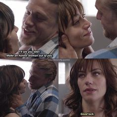 Sons Of Anarchy Tara, Sons Of Anarchy Samcro, Anarchy Quotes, Maggie Siff, Anastasia Musical, Charlie Hunnam Soa, Biker Quotes, Jax Teller, Dream Guy