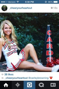 Senior picture for cheerleading