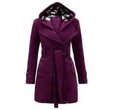 2015 Mymixtrendz- Womens Warm Fleece Hooded Jacket with Belt Coat