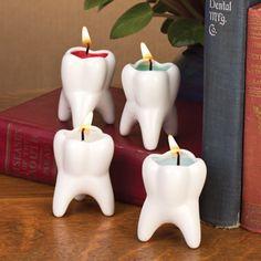 Mini molar votive candle set.