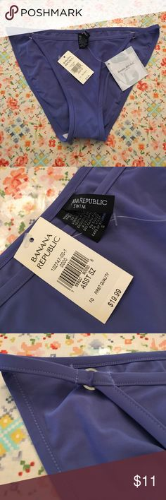 [Banana Republic] Swim Bottoms Periwinkle Blue NWT. She couldn't find her panties the next day! She needed to get to work. Hello shots out of a turkey baster is always a bad idea. Swim undies will have to do. Has a micro flaw. Please see last pic. Home of cute dog and no smoke. Banana Republic Swim