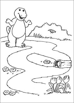 Cute Barney Coloring Book 58 Barney and friends Coloring