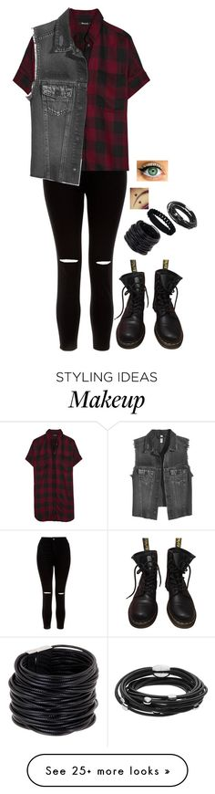 """Micheal Clifford"" by bringmxthxhorizon on Polyvore featuring New Look, Madewell, Dr. Martens, Saachi, Marc by Marc Jacobs and Skagen"