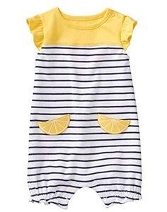efa36e4066da5 Gymboree Baby Girls Short Sleeve One-Piece Romper