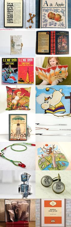 World Book Day: 5 March - a collection of Etsy treasures found by Atelier Spatz