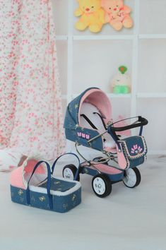Your place to buy and sell all things handmade Miniature Baby Carriage Stroller scale/ Miniature for doll house/ Miniature collection/ Summer Stroller for Dolls Baby Barbie, Barbie Toys, Baby Dolls, Barbie Clothes, Baby Doll Furniture, Barbie Furniture, Dollhouse Furniture, Strollers For Dolls, Baby Doll Nursery