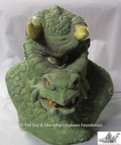 A prototype model of the Ymir from '20 Million Miles to Earth'. By Ray Harryhausen, made of plaster