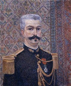Portrait of Monsieur Pool - Pointillism - Albert Dubois-Pillet (French: 1846- 1890)