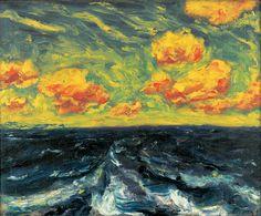 Emil Nolde (German-Danish, 1867–1956) Herbstmeer XII (Autumn Sea XII), 1910. Oil on canvas, 73 x 89 cm. Sammlung Deutsche Bank.