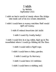 wish poem writing for kids