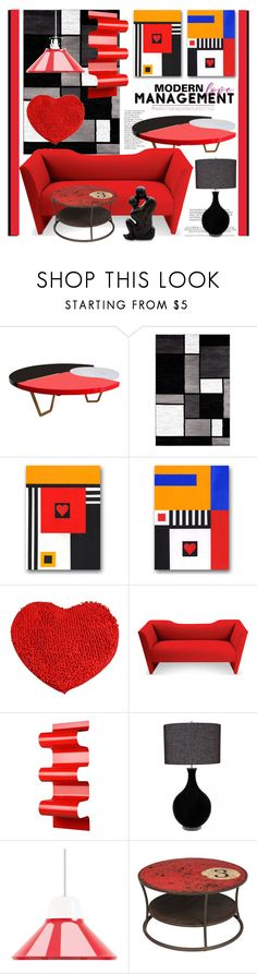 """Modern Love: Happy Valentine's Day"" by esch103 ❤ liked on Polyvore featuring interior, interiors, interior design, home, home decor, interior decorating, Sentient, Home Decorators Collection, NOVICA and modern"