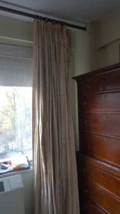 "Master Bedroom: Curtains  (Rod)  L: 127.25"" (Panels)  W: 150"" H: 97"""