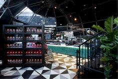 GREEN tiles - MasterChef Dining and Bar pop up restaurant by AZBcreative Australia