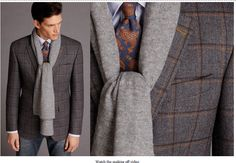 paisley tie and windowpane / Scabal