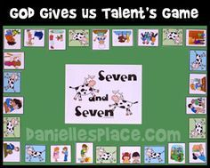 Seven and Seven Printable Bible Board Game for Sunday School from www.daniellesplace.com