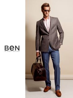 Ben by Jeremy Wallace check blazer, blue trousers