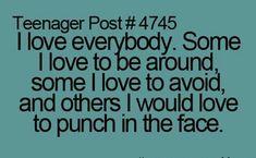 In that case I love everyone
