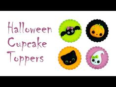 Crumb Avenue - Tutorials by Agnes Jagiello Halloween Cupcake Toppers Halloween Cupcakes Easy, Halloween Cupcake Toppers, Halloween Sweets, Halloween Cakes, Cute Halloween, Cake Topper Tutorial, Fondant Tutorial, Biscuit, Fondant Animals