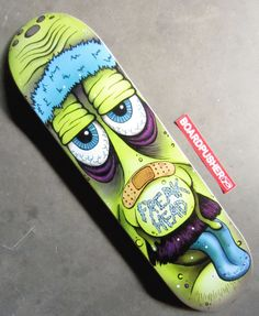This week we have a design by repeat Featured Deck artist Lauren Ramer. She has her own Freak Head brand of skateboard graphics which you can see more of and purchase at www.BoardPusher.com/shop/freakhead.